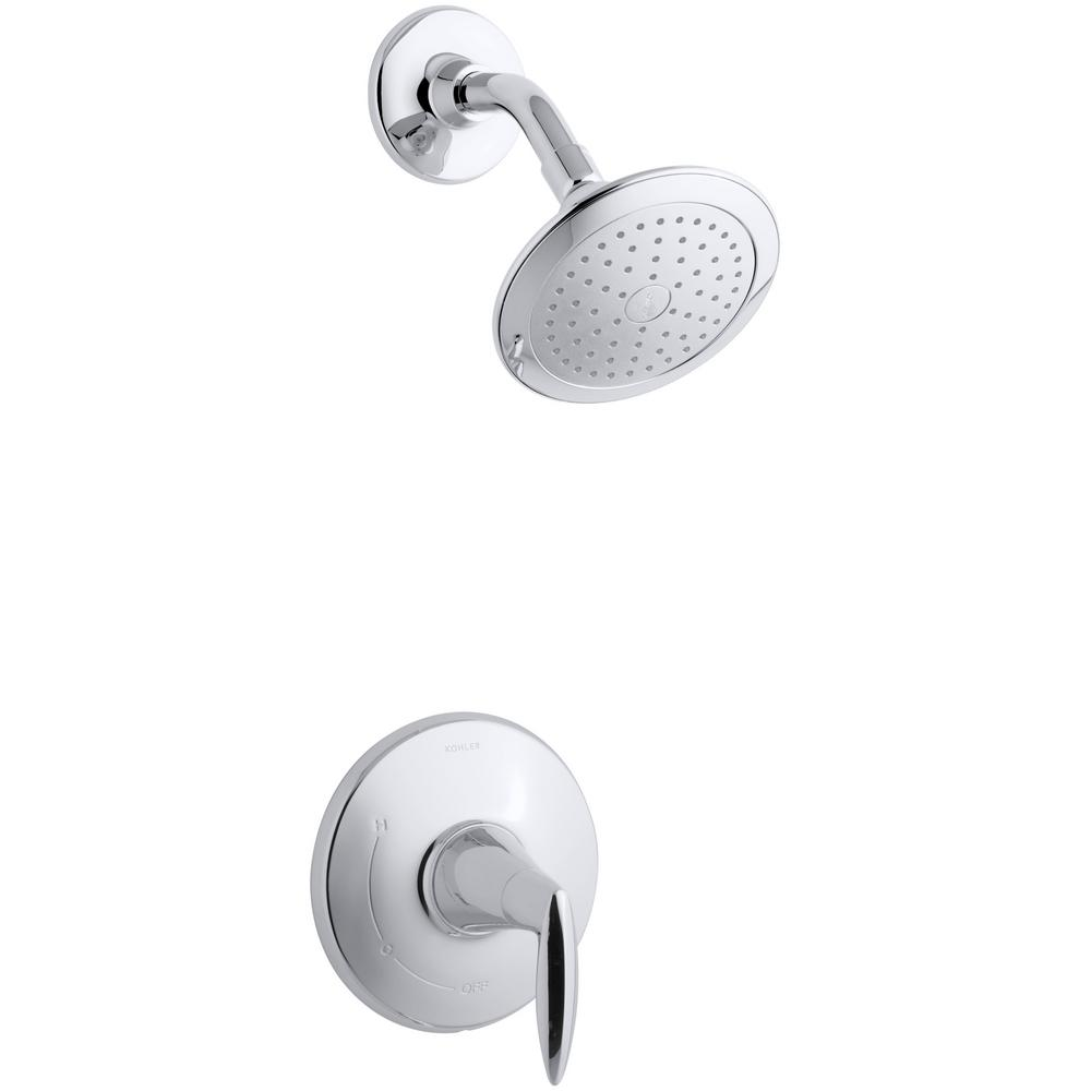 Alteo Rite-Temp 1-Spray 6.5 in. Fixed Shower Head in Polished Chrome
