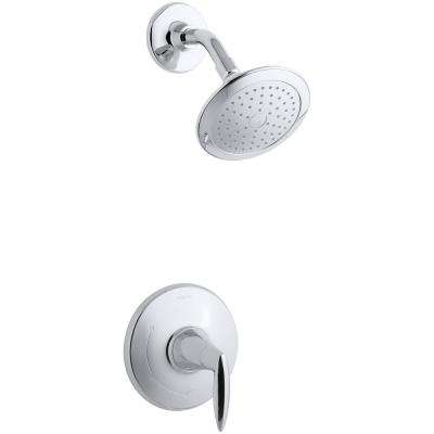 Alteo Rite-Temp 1-Spray 6.5 in. Fixed Shower Head in Polished Chrome (Valve Included)