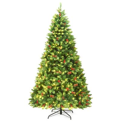 7.5 ft. Pre-Lit LED Slim Fraser Fir Artificial Christmas Tree with 550 Twinkling White Lights