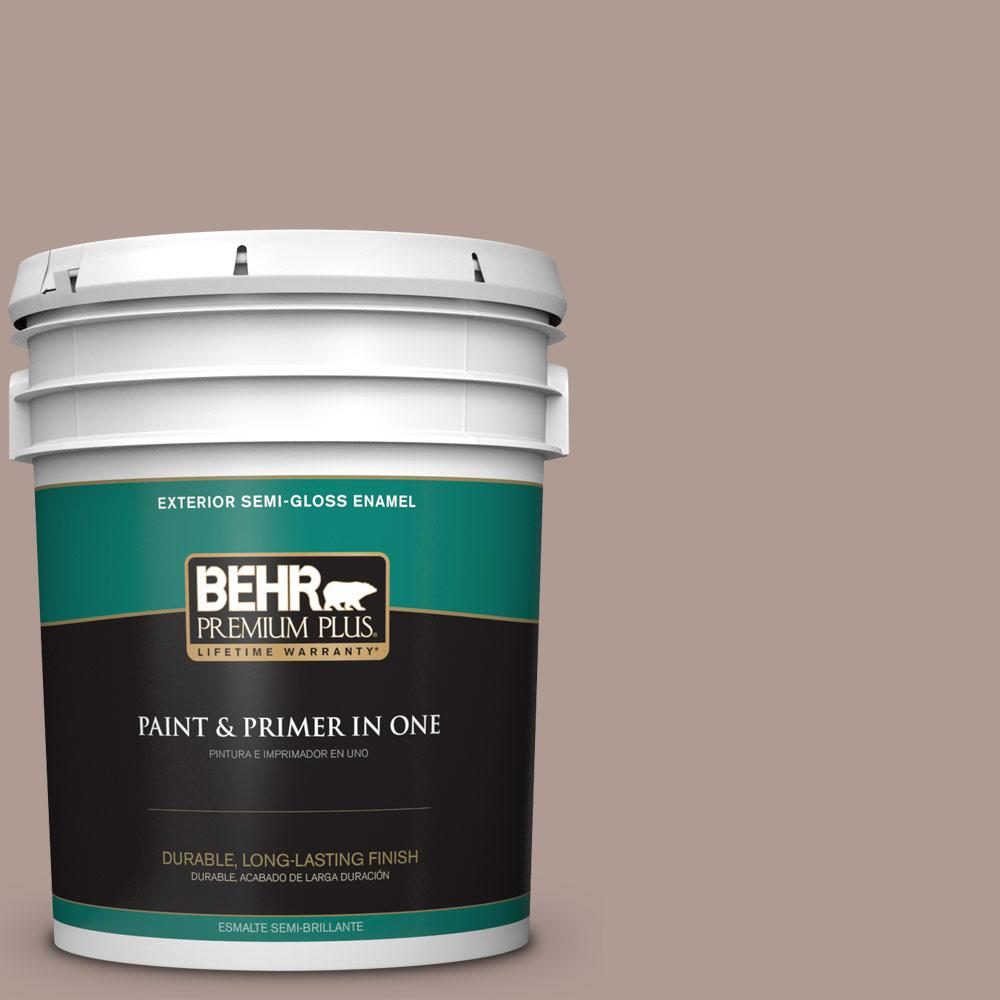 Behr Premium Plus 5 Gal N170 4 Coffee With Cream Semi Gloss Enamel Exterior Paint And Primer In One 540005 The Home Depot