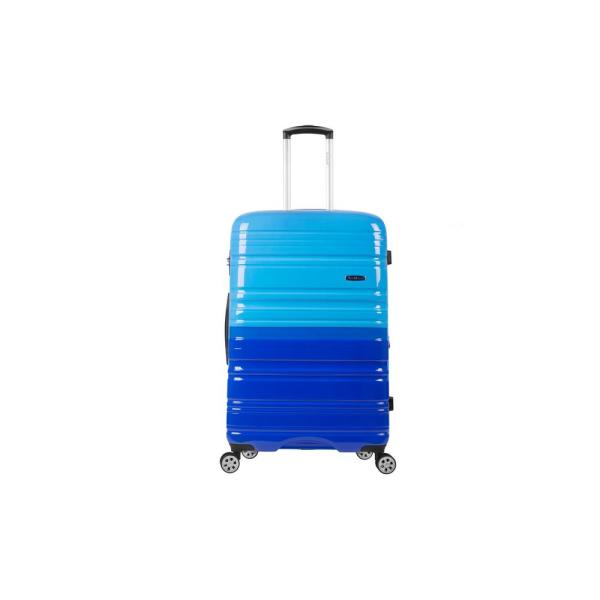Rockland 2Tone Blue 20 in. Expandable Hardside Spinner Carry on Suitcase