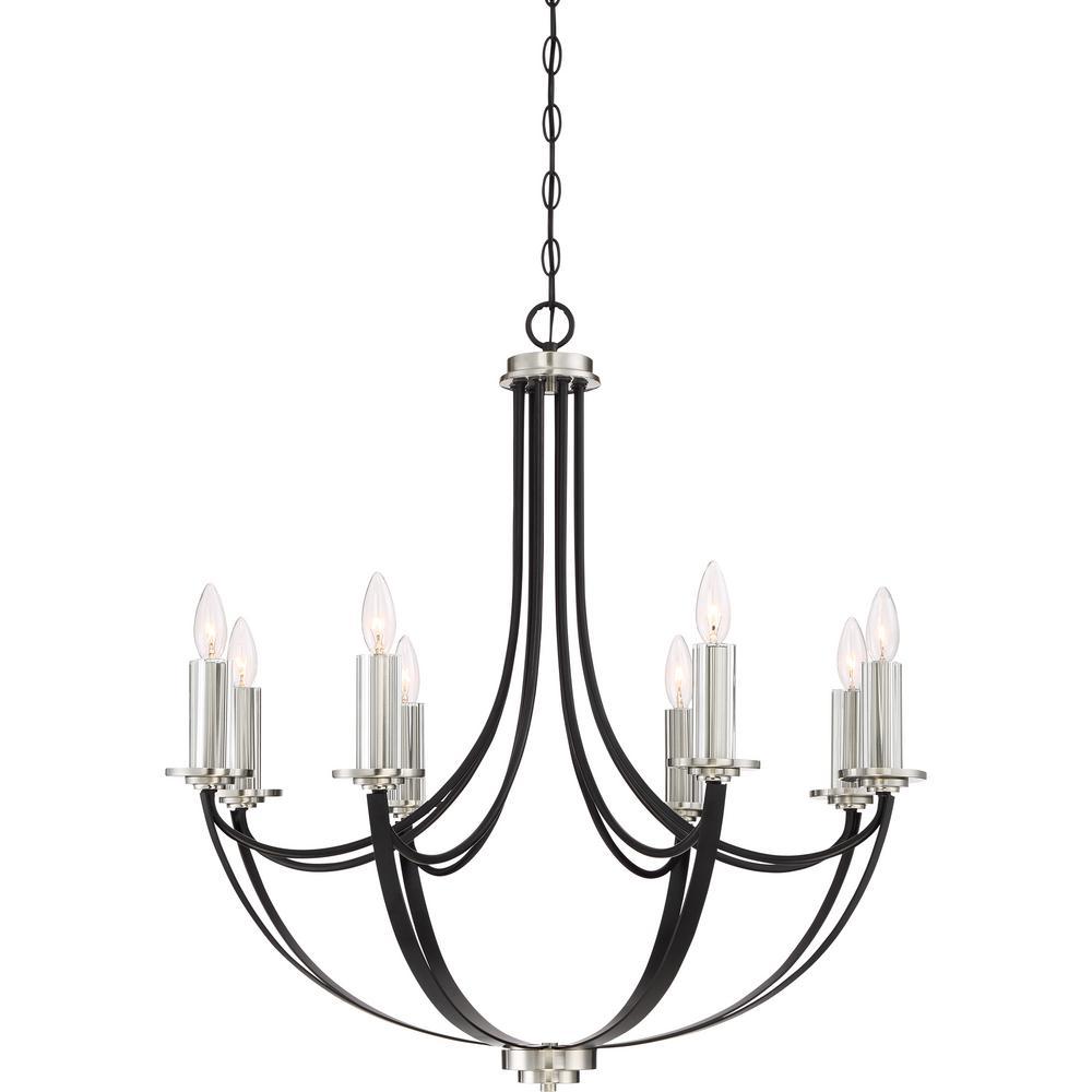 Alana 8-Light Mystic Black Candle-Style Chandelier