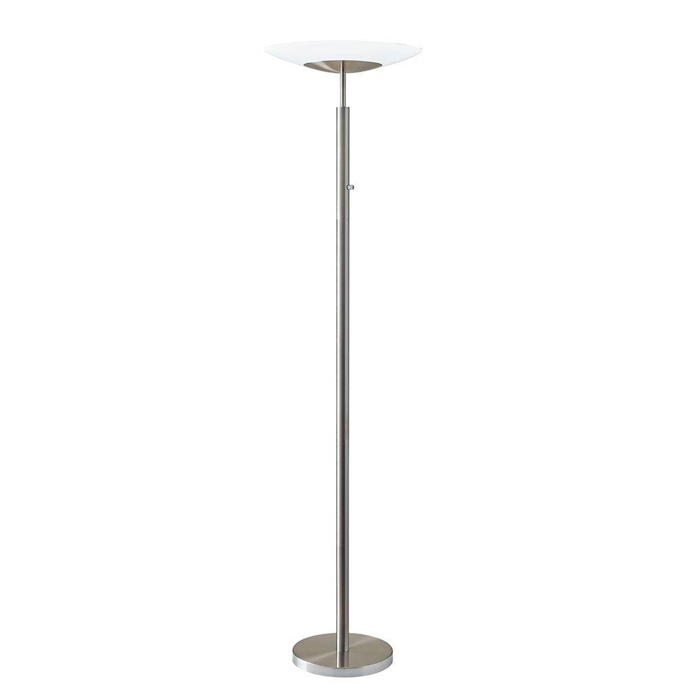 Silver LED Torchiere