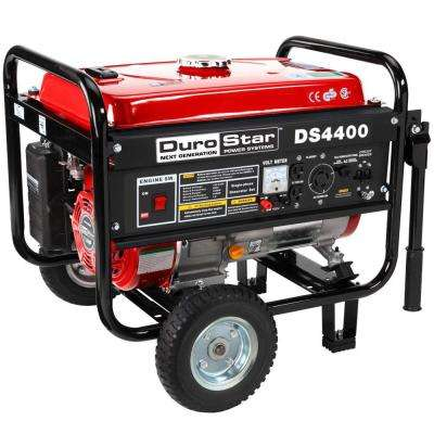 4,400-Watt Gasoline Powered Manual Start Portable Generator with Wheel Kit - CARB Approved