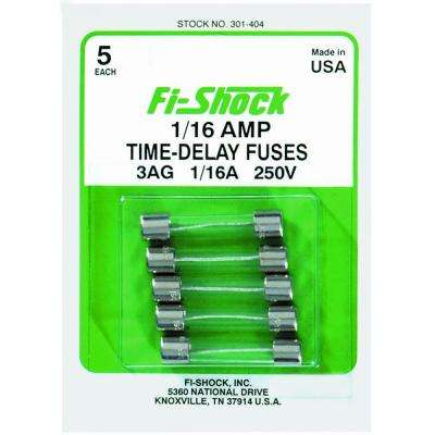 1/16 Amp Time-Delay Fuse (Pack of 5)