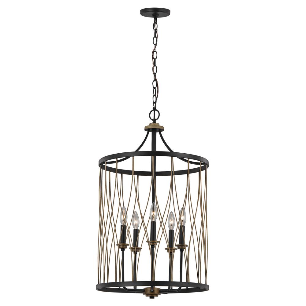 Bel Air Lighting Tahoe 5 Light Rubbed Oil Bronze Pendant