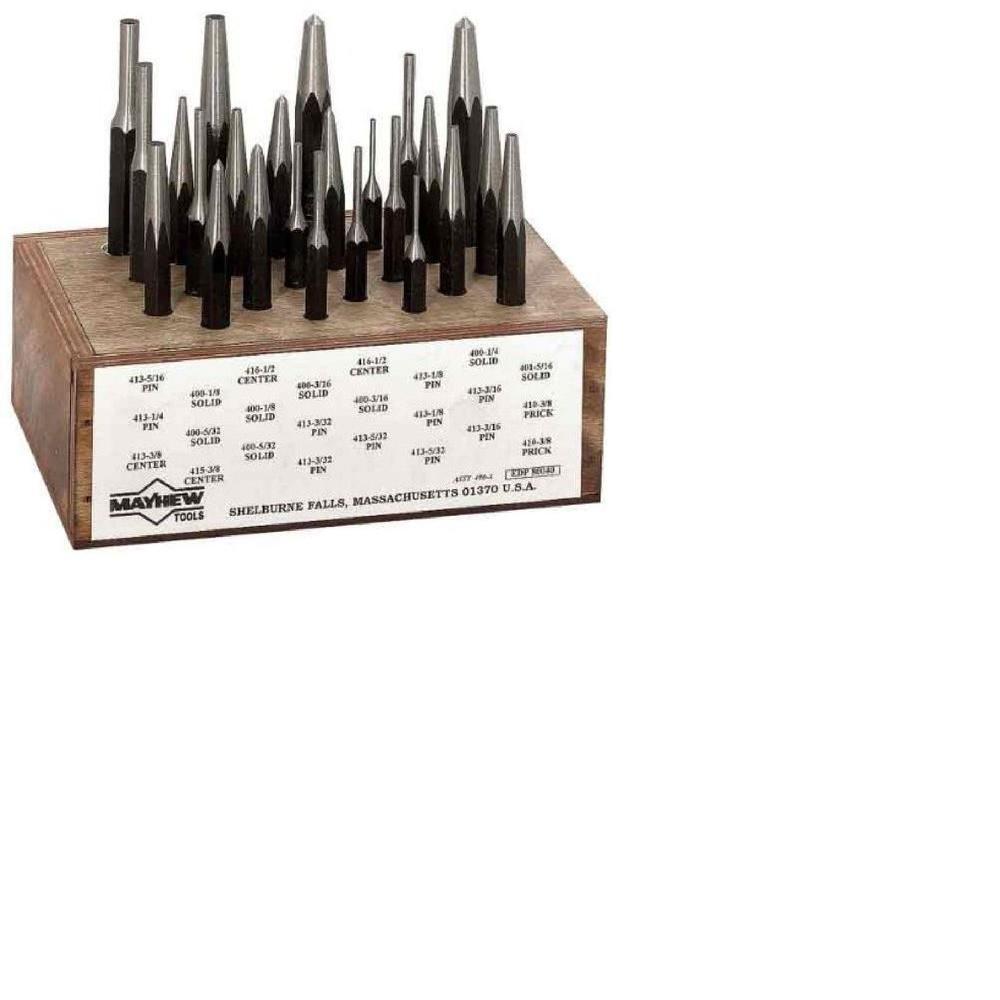 Wood Box Punch Set (24-Piece)