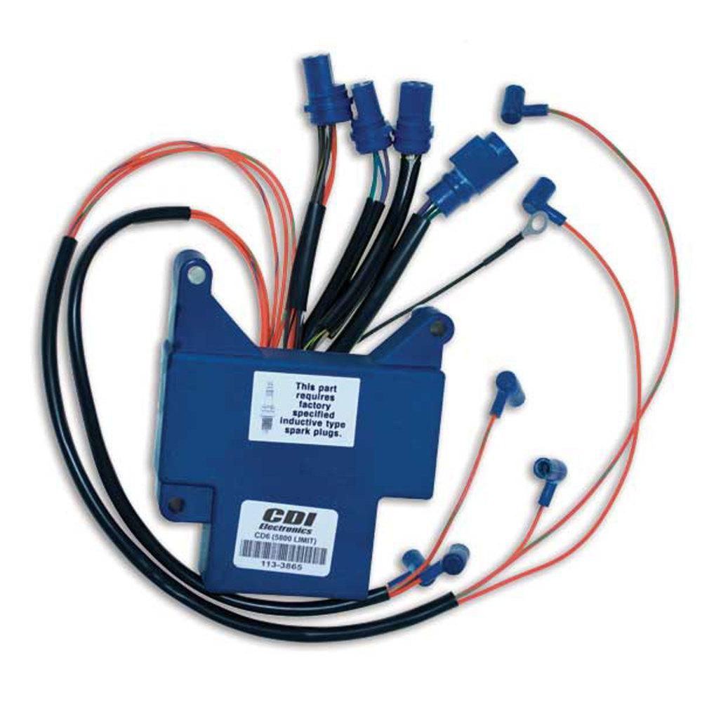 Johnson/Evinrude Power Pack 6 Cyl (1989-1992) The CDI Electronics 113-3865 Johnson Evinrude Power Pack fits the following 1989-1992 6 cylinder engines: 150, 155 and 175 HP. Replaces part number: 583865. Designed for use in a marine environment.