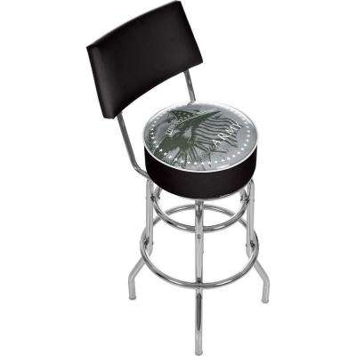 U.S. Army This We'll Defend 31 in. Chrome Padded Swivel Bar Stool