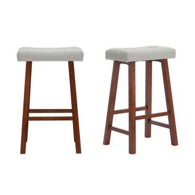 Set of 2 StyleWell Upholstered Bar Stools