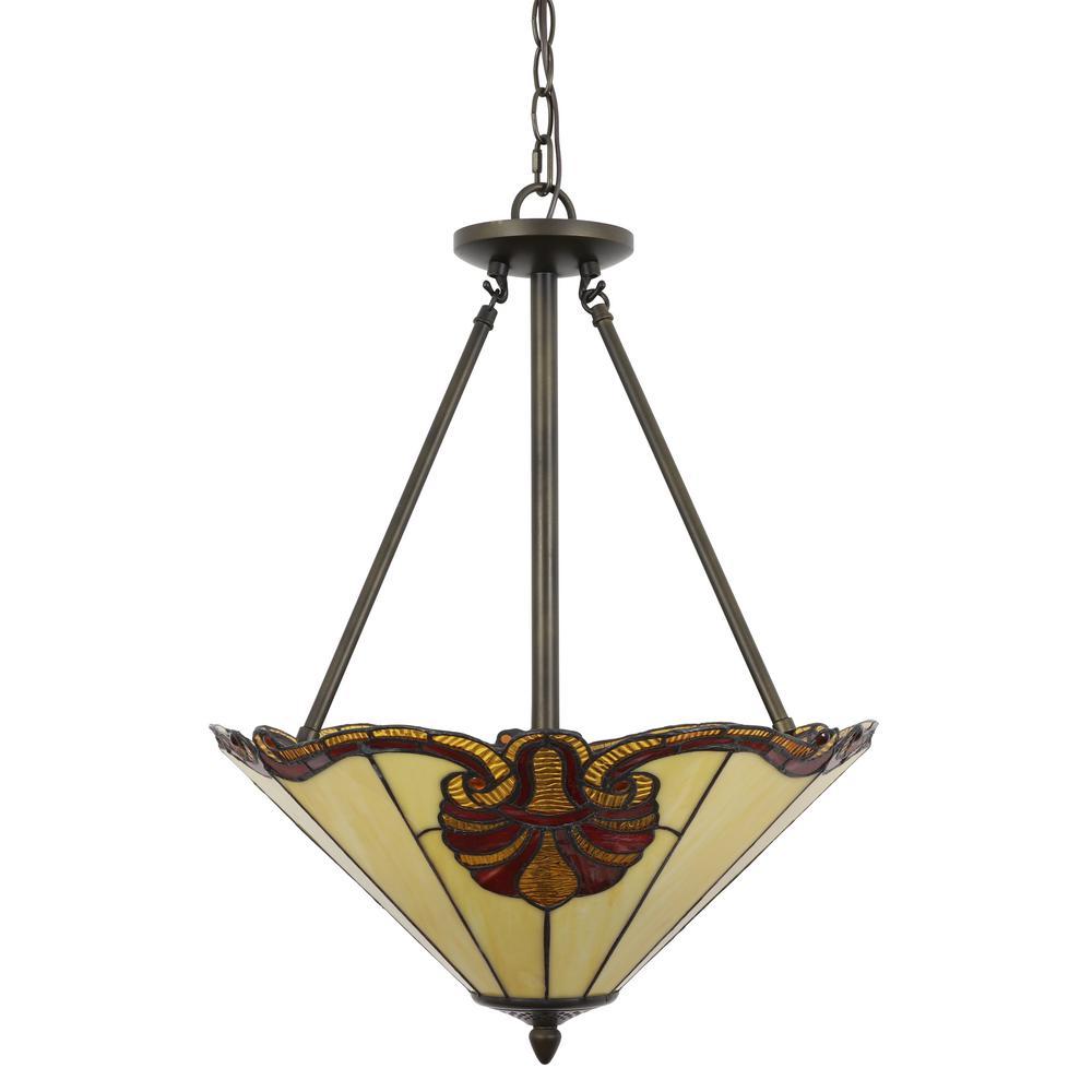 Samuel 3-Light Tiffany Glass Pendant