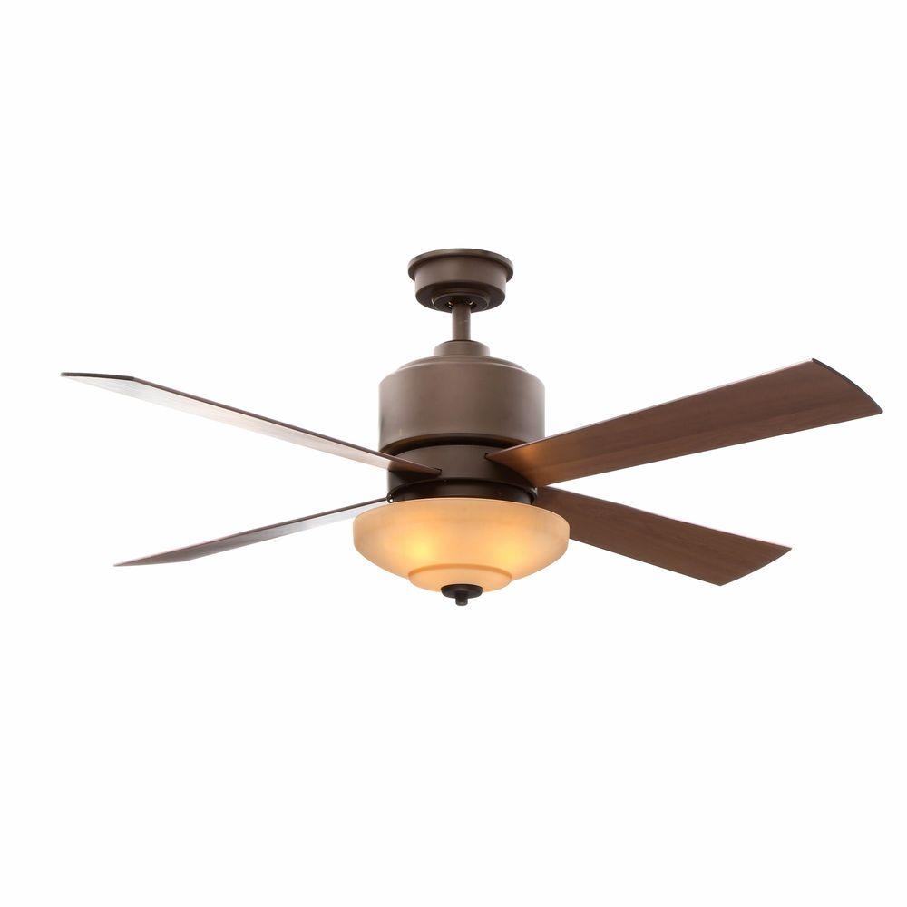 Hampton Bay Alida 52 in. Indoor Oil-Rubbed Bronze Ceiling Fan with Light Kit and Remote Control