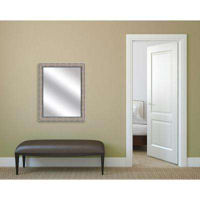 32.375 in. x 26.375 in. Champagne Framed Mirror