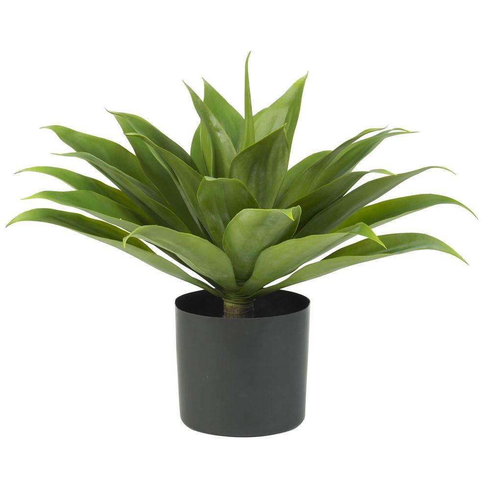 Nearly Natural 25 in. H Green Agave Silk Plant