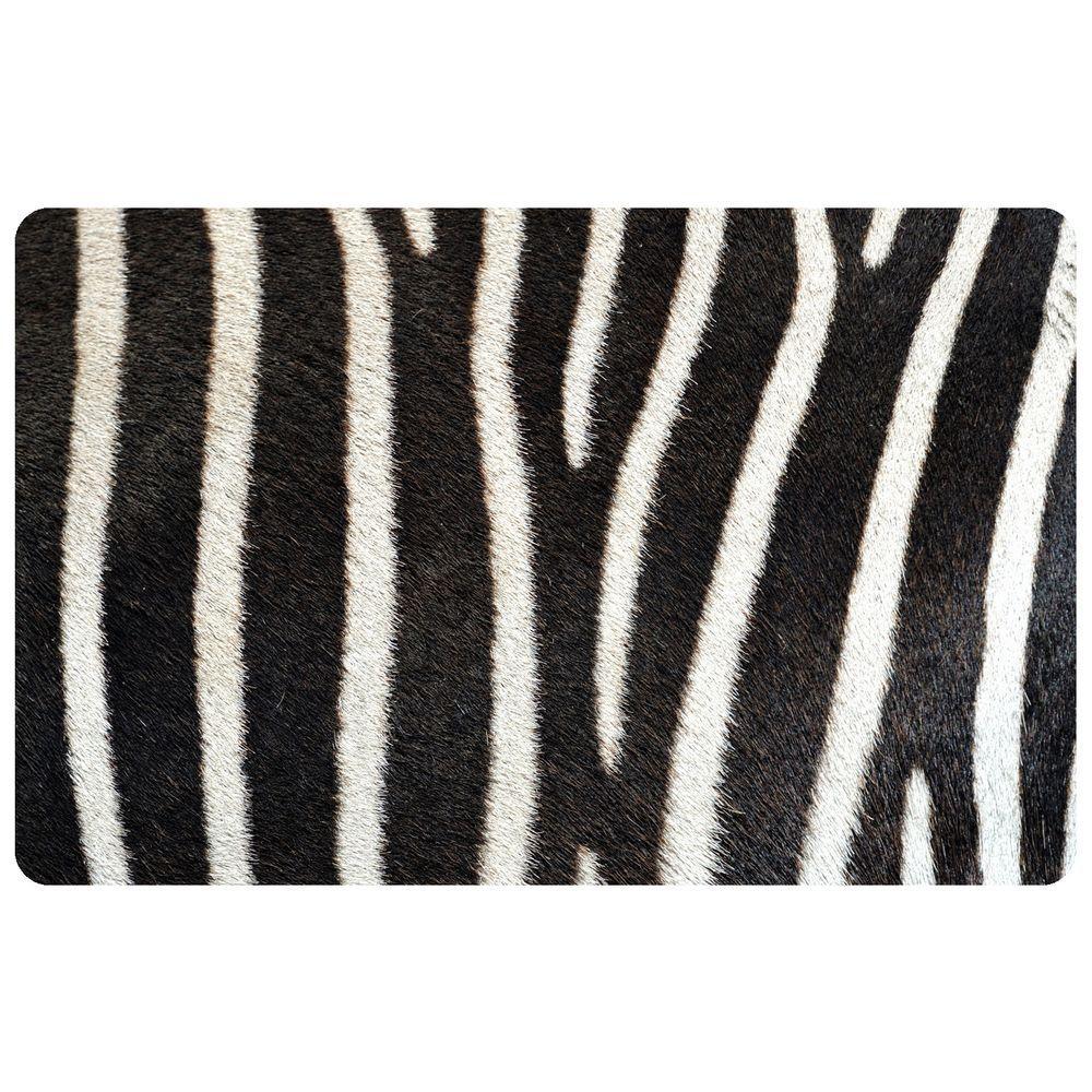 Bungalow Flooring Multi Color 18 in. x 27 in. Neoprene Zebra Door Mat  sc 1 st  Home Depot & Bungalow Flooring Multi Color 18 in. x 27 in. Neoprene Zebra Door ...