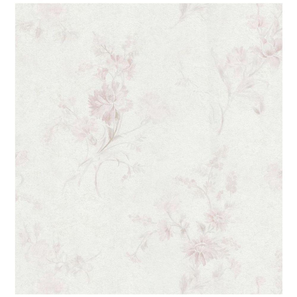 Brewster Embossed Floral Wallpaper