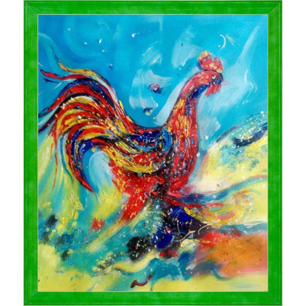 ArtistBe Good Morning Reproduction with Jubilee Green FrameCanvas Print, Multi-color was $820.0 now $399.06 (51.0% off)