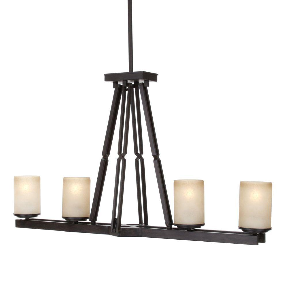 Hampton Bay Alta Loma 4-Light Dark Ridge Bronze Island Light