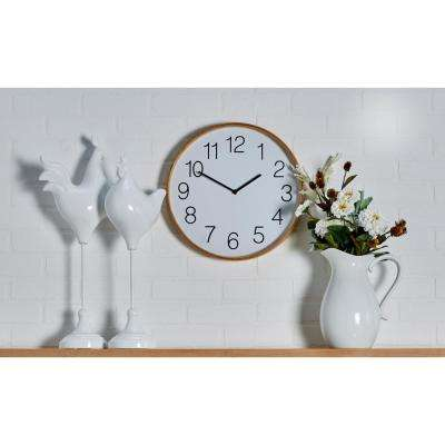 Multi-Colored Rustic Wooden Wall Clock