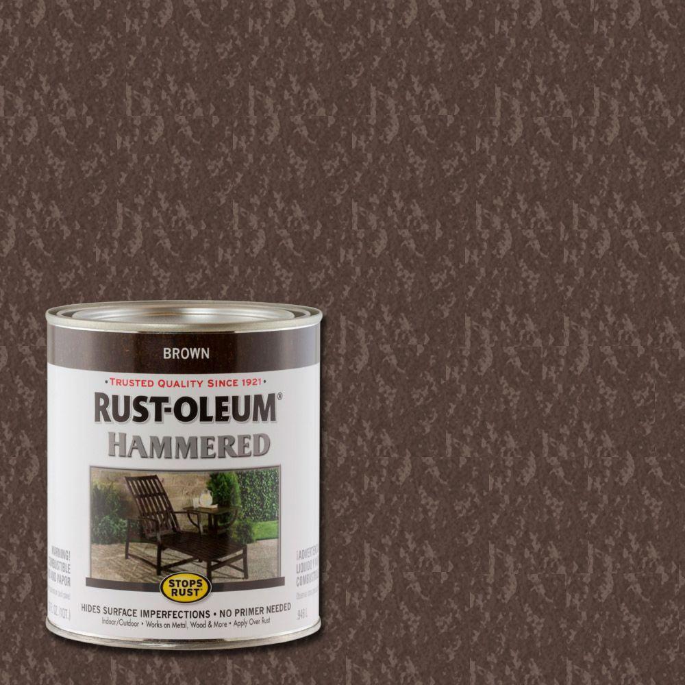 Rust-Oleum Stops Rust 1 qt. Hammered Brown Rust Preventive Paint (Case of 2)