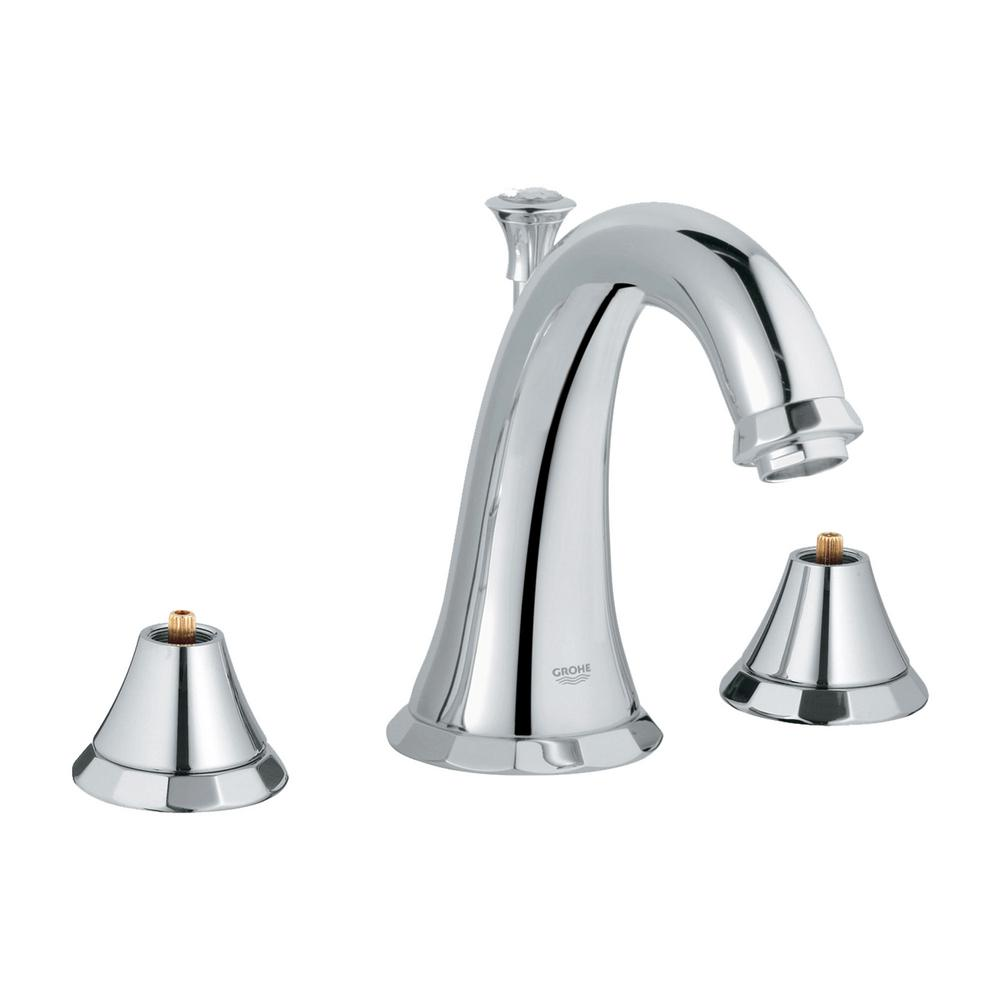 Grohe Kensington 8 In Widespread 2 Handle 1 2 Gpm Bathroom Faucet In Starlight Chrome Handles