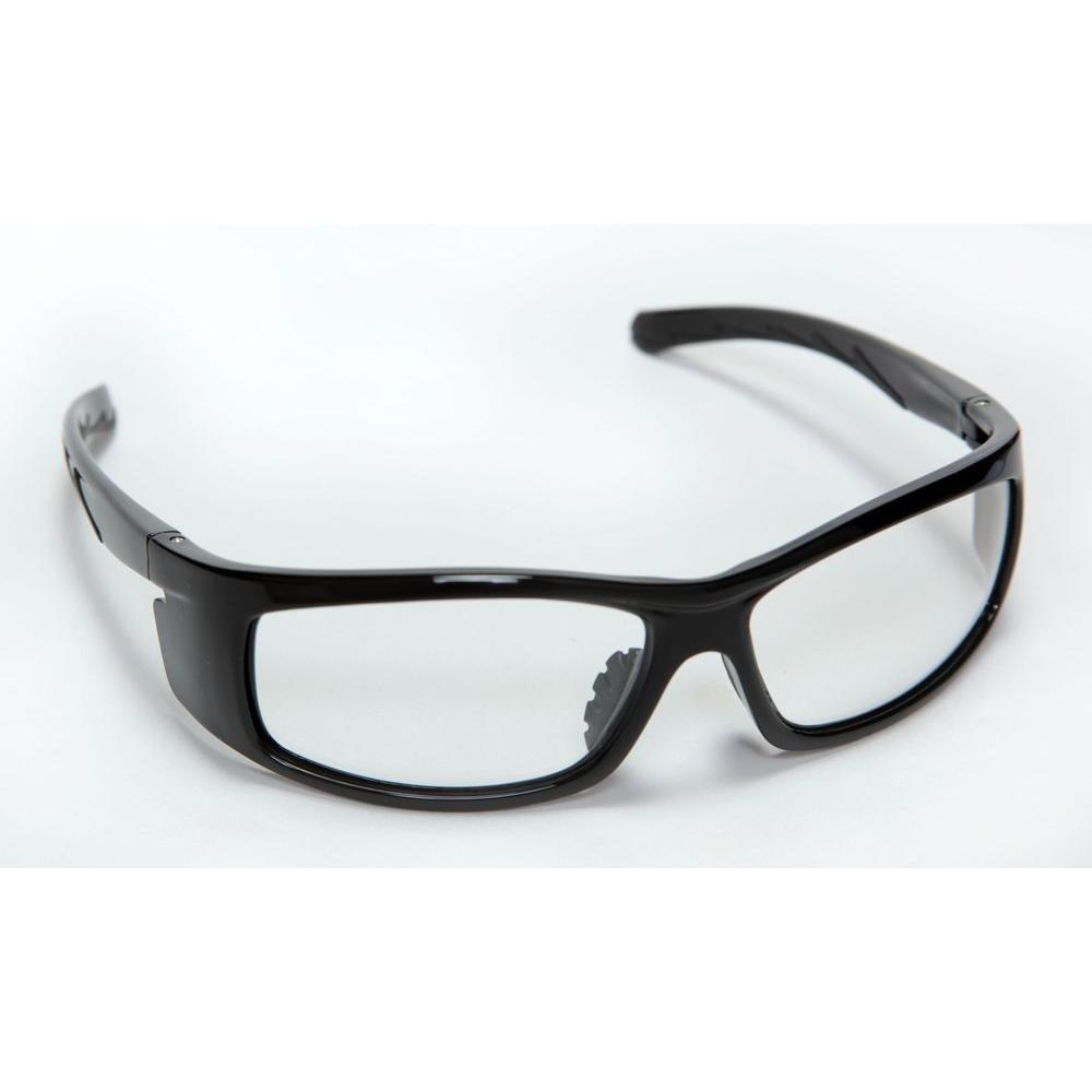 Cordova Vendetta Safety Glasses Black Full Nylon Frame Clear Lens