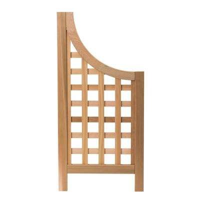 Andover 47.5 in. x 22.5 in. Cedar Trellis Wings for Andover Screen (2-Pack)