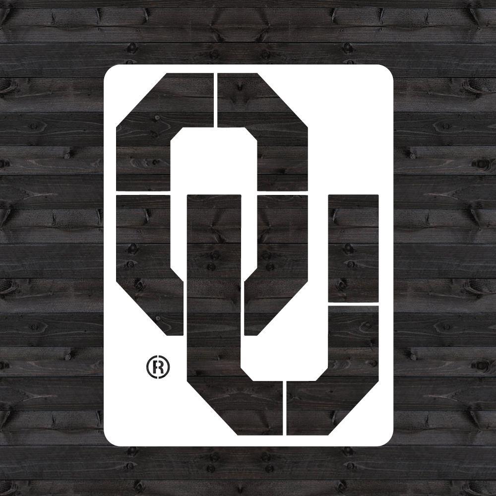 Oklahoma OU Mini Stencil