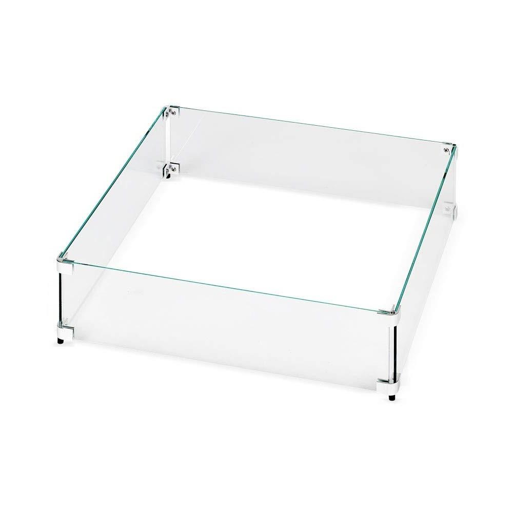 Barton 24 In X 24 In Tempered Glass Screen Flame Wind Guard For Square Fire Pit Table Heater 95172 H The Home Depot