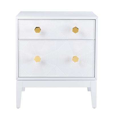 Mila Lacquer White Side Table