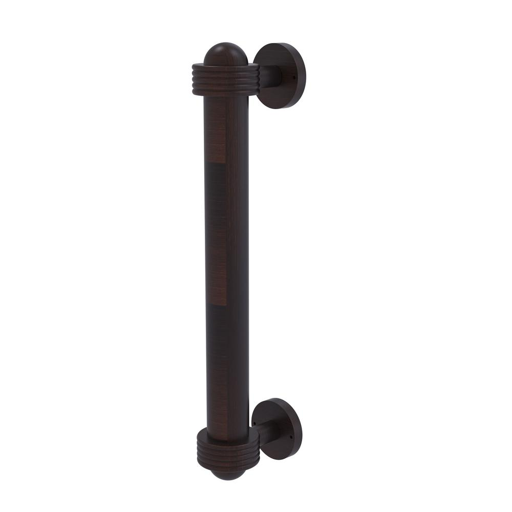 8 in. Door Pull with Groovy Accents in Venetian Bronze