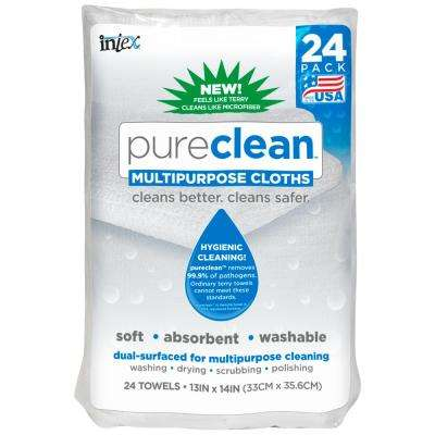 13 in. x 14 in. Pureclean Multipurpose Cloth (24-Pack)