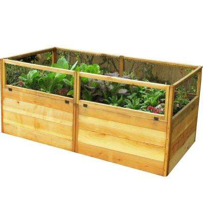 6 ft. x 3 ft. Cedar Raised Garden Bed