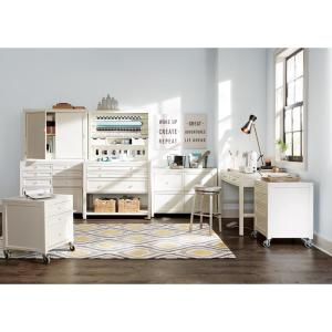 Home Decorators Collection Craft Space 21 In W Picket Fence 4 Drawer Cart 1606100400