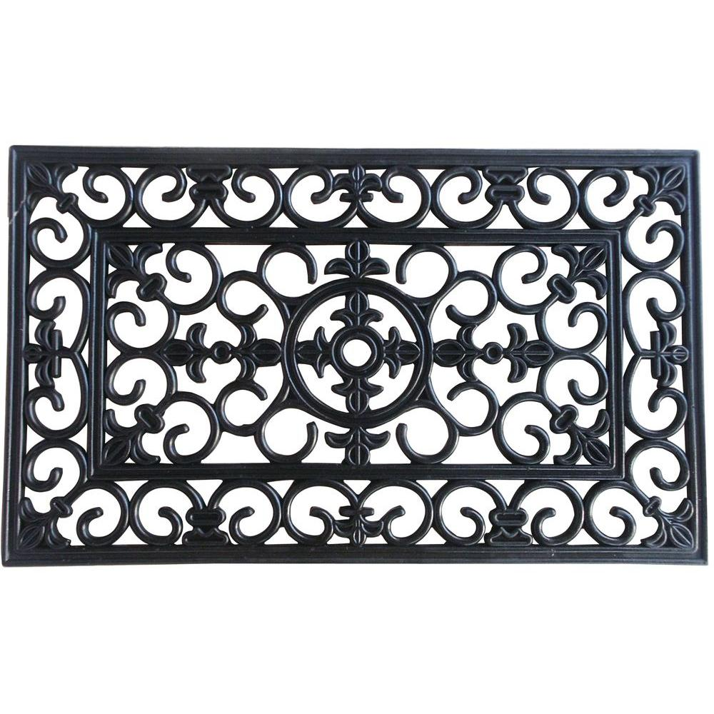 High Quality TrafficMASTER Arrow 24 In. X 36 In. Rubber Wrought Iron Door Mat