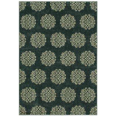 Delilah Bay Blue Starch 2 Ft X 3 Ft Area Rug
