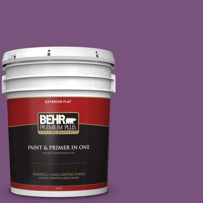 5 gal. #MQ4-62 Birthstone Flat Exterior Paint and Primer in One