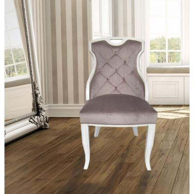 Glam Dining Chair Solid Wood Chairs Kitchen