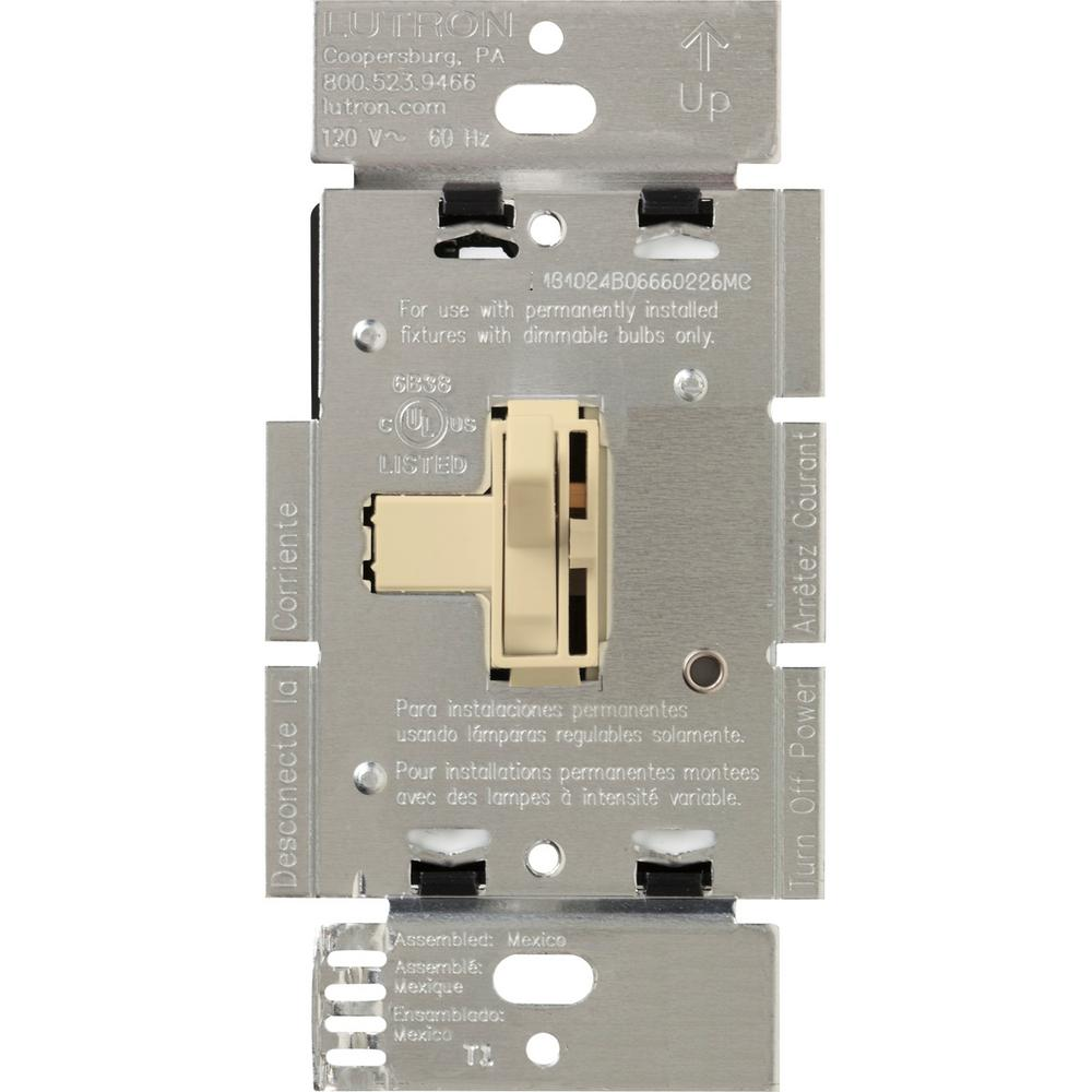 Toggler 600-Watt 3-Way Dimmer with Night Light, Ivory