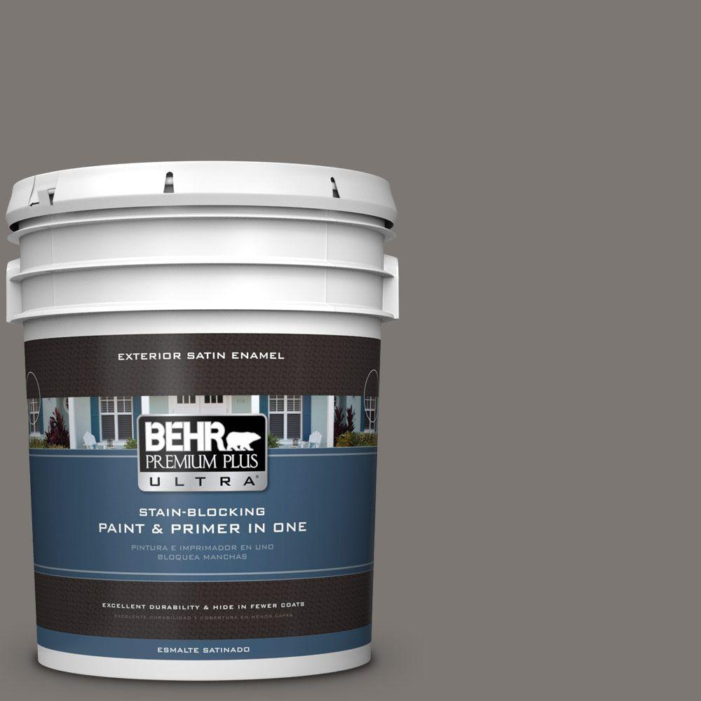BEHR Premium Plus Ultra 5-gal. #790F-5 Amazon Stone Satin Enamel Exterior Paint