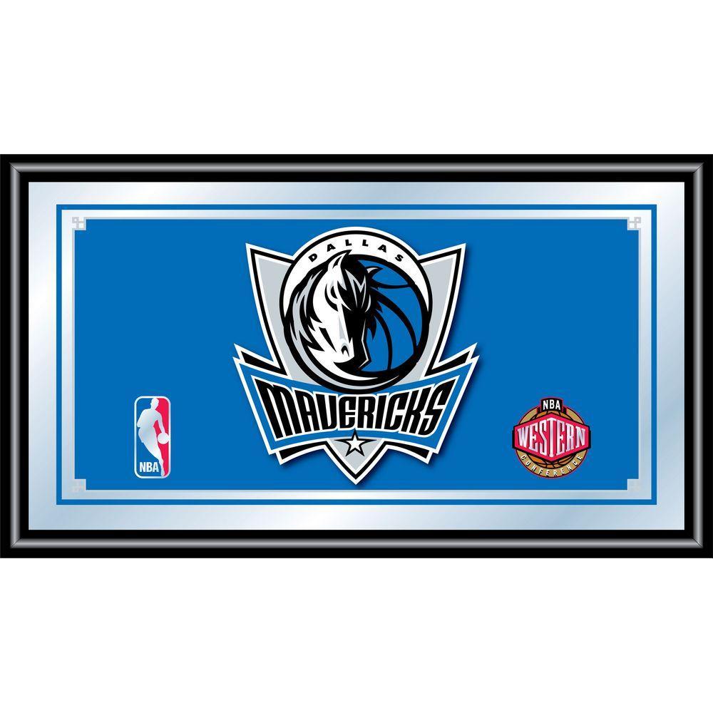 null Dallas Mavericks NBA 15 in. x 26 in. Black Wood Framed Mirror