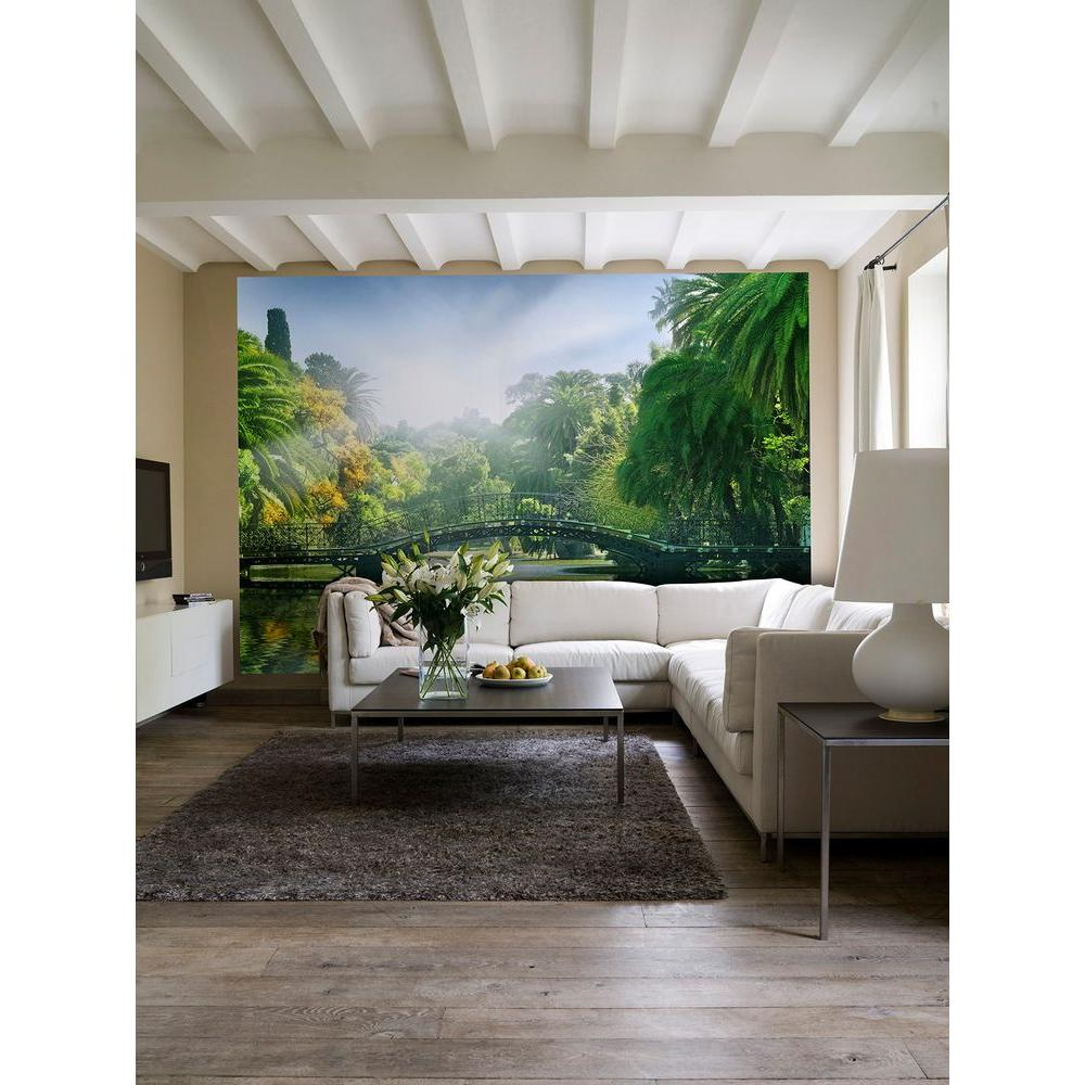 Ideal Decor 100 in x 144 in Bridge in the Sunlight Wall Mural