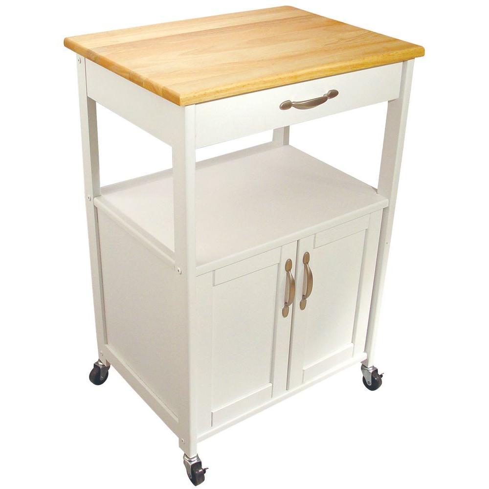 Click here to buy Catskill Craftsmen Cottage White Kitchen Cart with Storage by Catskill Craftsmen.
