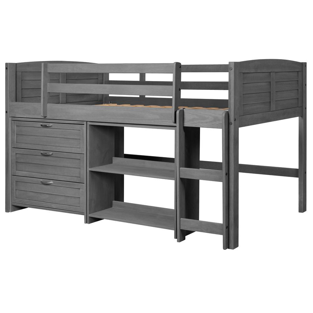 Wood Bunk Loft Beds Kids Bedroom Furniture The Home Depot