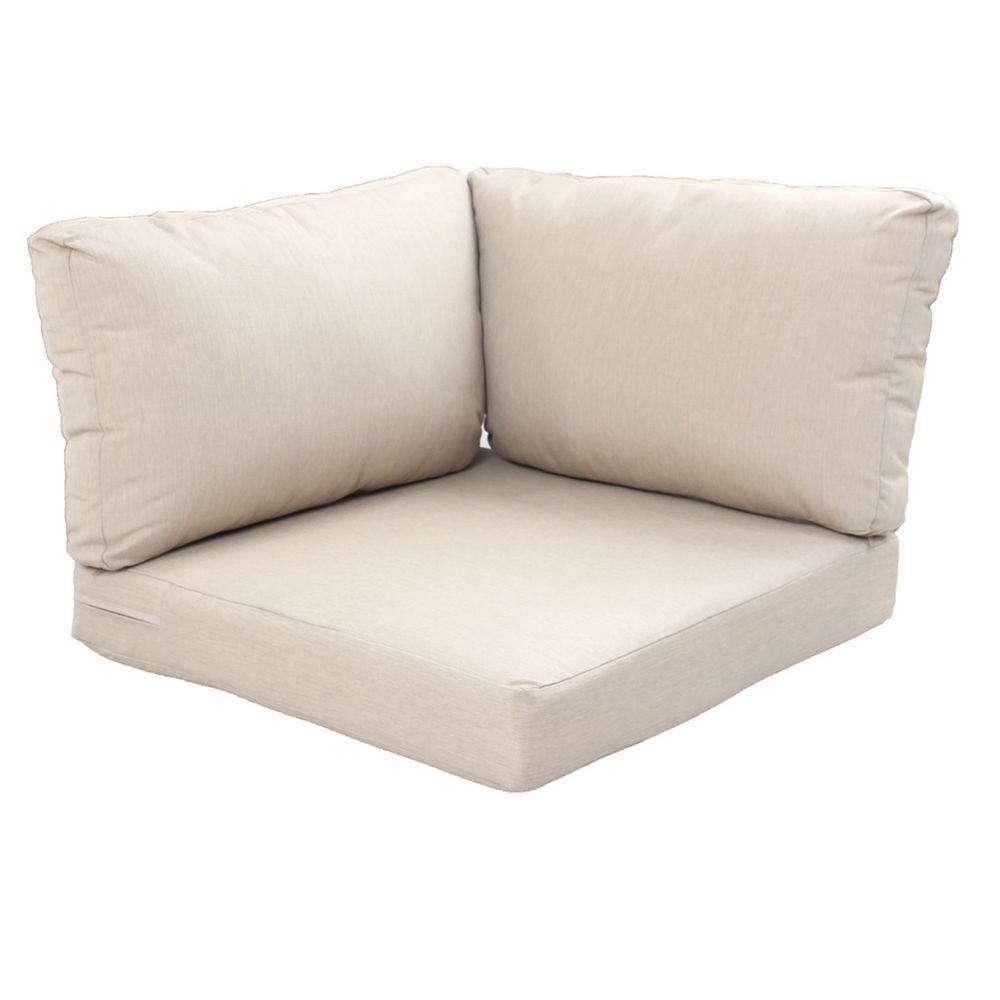 beverly beige replacement 3piece outdoor corner chair cushion set