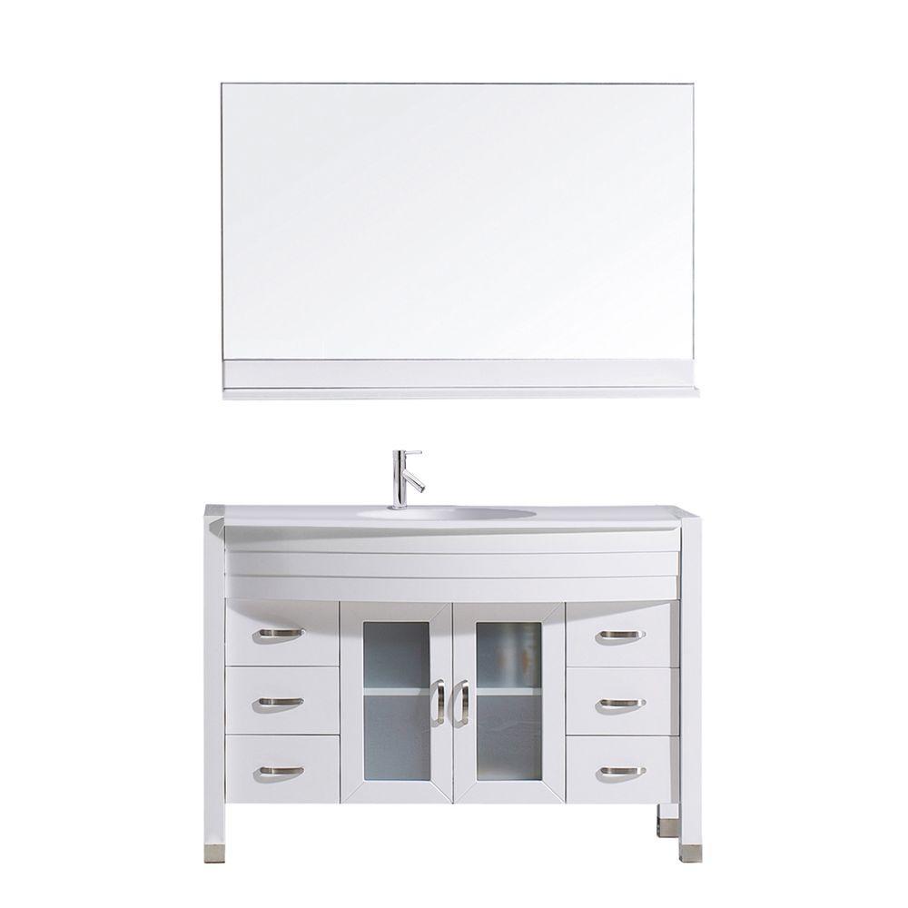 Ava 47.2 in. W x 22 in. D Vanity in White