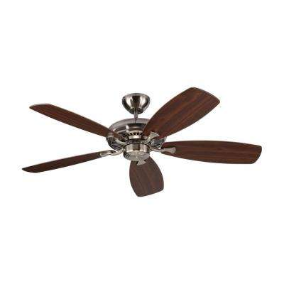 Designer Max 52 in. Brushed Steel Silver Ceiling Fan