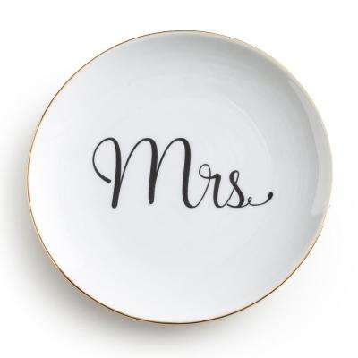 Love Is In The Air White Mrs Plate