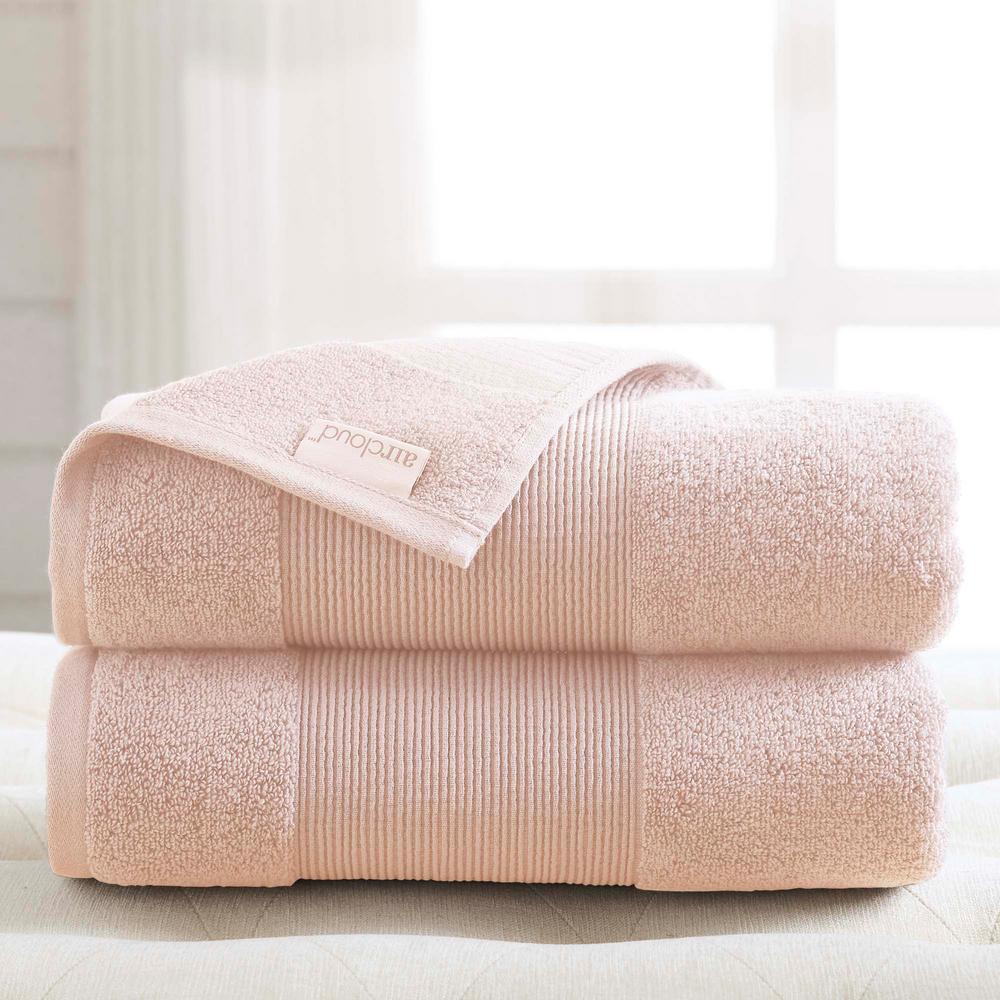 Air Cloud 2-Piece Peachy Blush Oversized Bath Sheet