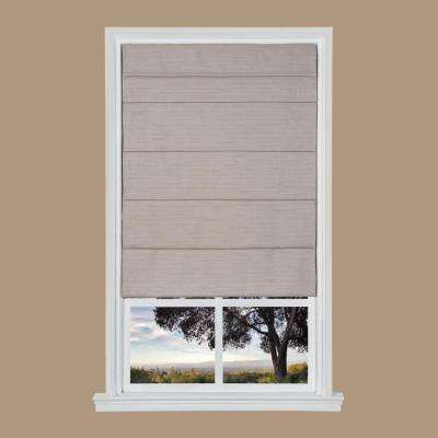 Light Brown Texture Cordless Fabric Roman Shade - 39 in. W x 64 in. L